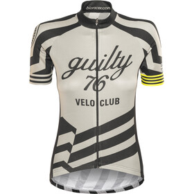 guilty 76 racing Velo Club Pro Race Maillot de cyclisme Femme, grey